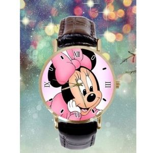 Accessories - Minnie Mouse PU Leather Unisex Wrist Watch NWT